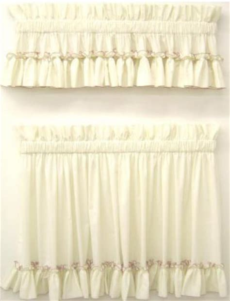ruffled country curtains carolina pearl edge country style curtains ruffled