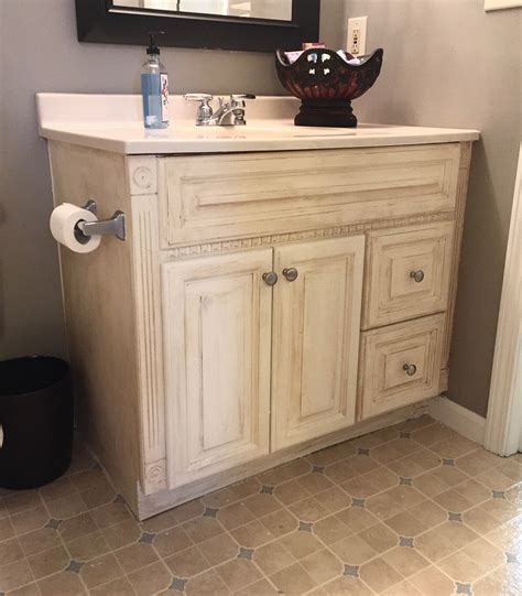 Sloan Chalk Paint Bathroom Vanity by Guest Bathroom Oak Vanity Makeover Whimsical September