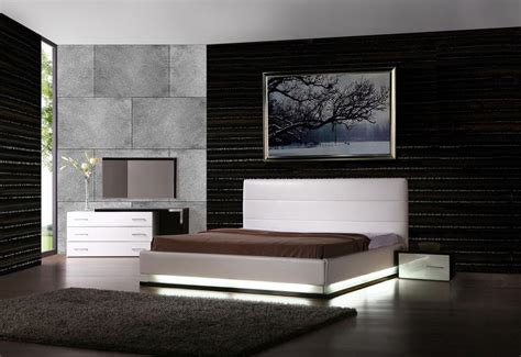 modern designer furniture infinity platform bed with lights