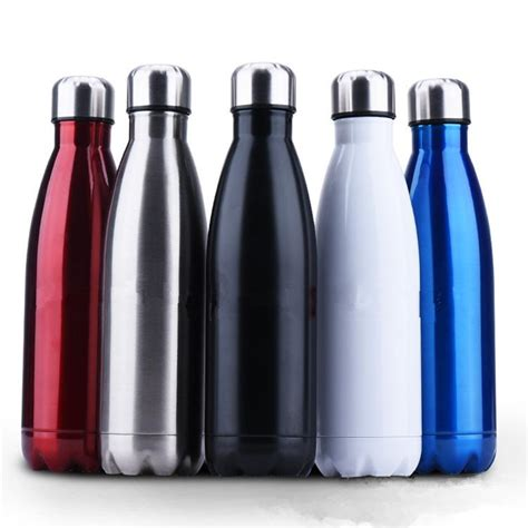 Gratis Ongkir Colourful Thermos Insulated Mik Water colorful stainless steel vacuum bottles thermos flask travel sport 304 stainless steel cups