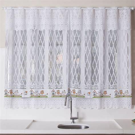 cortinas 1 50 x 2 20 cortina para janela de cozinha de renda 2 00x1 20 corujinhas