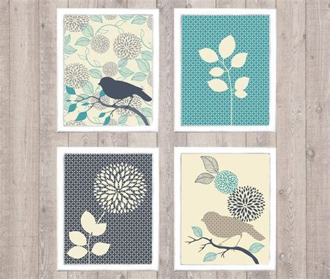 Free Printable Bird Wall Art | bird flower digital printable wall art print by