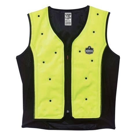 cooling vest ergodyne chill its 6685 evaporative cooling vest lime