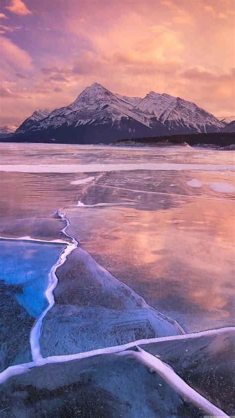 frozen wallpaper samsung nature iphone 6 plus wallpapers frozen lake sunset lock