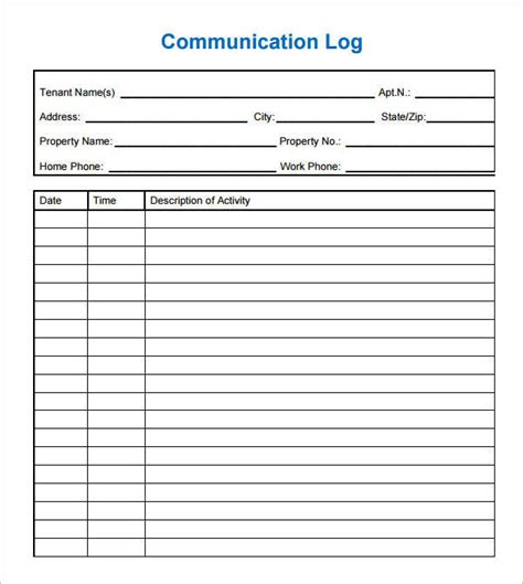 School Counselor Documentation Forms Communication Log For Parents And Teachers Teacher Phone Counseling Documentation Template