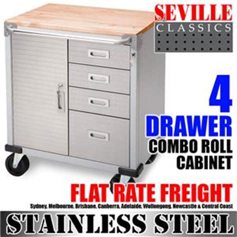 Ultra Hd By Seville Classics 5 Drawer Tool Box by Seville Classics 4 Drawer Combo Rolling Cabinet Tool