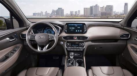 2019 Hyundai Santa Fe Interior 2019 hyundai santa fe interior raveled look