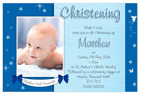 baptism photo card template birthday invitations christening invitation cards
