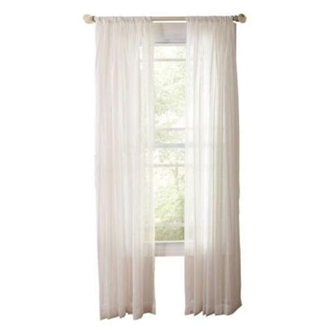 martha stewart living white sheer stripe rod pocket