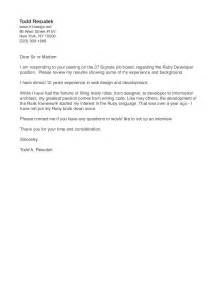 Great Cover Letters by Great Cover Letters Exles Simple Sle Cover Letter