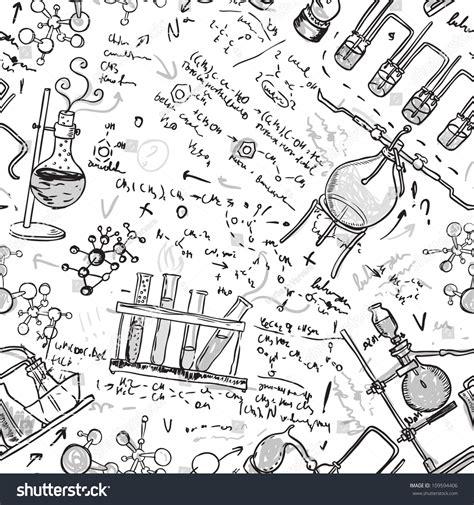 pattern lab deutsch old chemistry laboratory seamless pattern vector stock