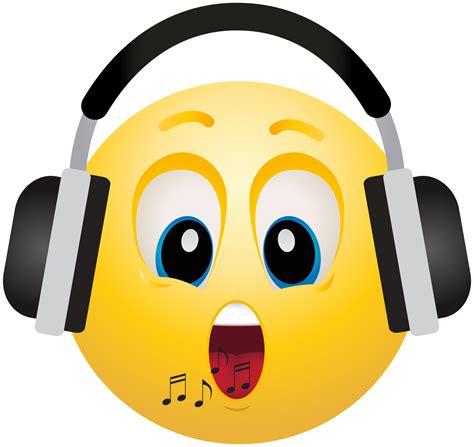 clipart faccine headphone emoticon emoji clipart info