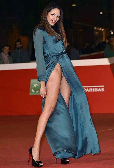 zaina dridi wardrobe malfunction at the rome festival