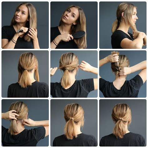 cute hairstyles to look good for your crush best 25 ponytails for short hair ideas on pinterest