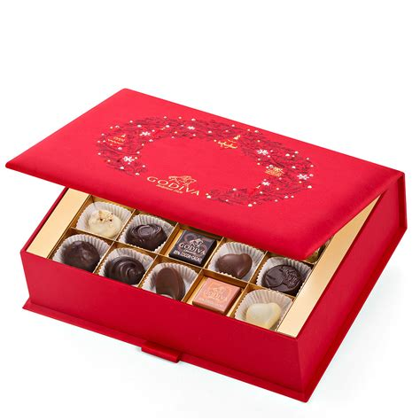 godiva christmas swarovski gift box 50 pcs delivery in