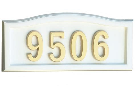softcurve white cast aluminum address plaque the home