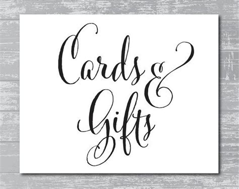 Cards Gifts Sign Template by Instant Cards Gifts Sign 8x10 Quot Diy Wedding