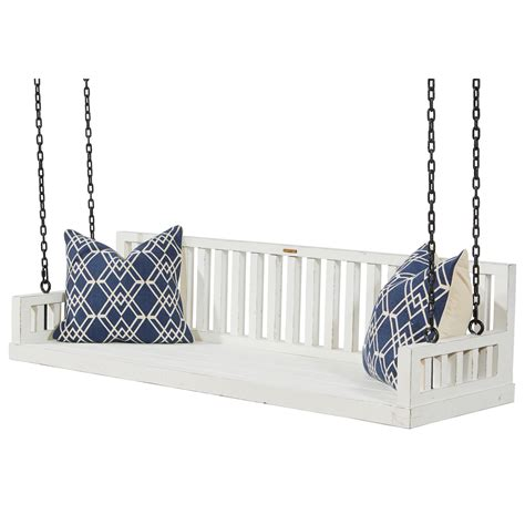 hanging porch swing ferguson slatted hanging porch swing by magnolia home by