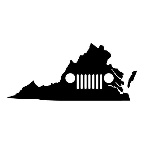 virginia jeep virginia jeep jeep stickers car decals wall decals