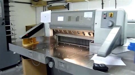 polar 78 es paper cutting machine 2001 youtube