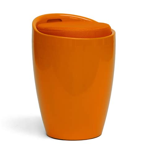 Stool Orange by Baxton Studio Morocco Orange Modern Stool With Storage