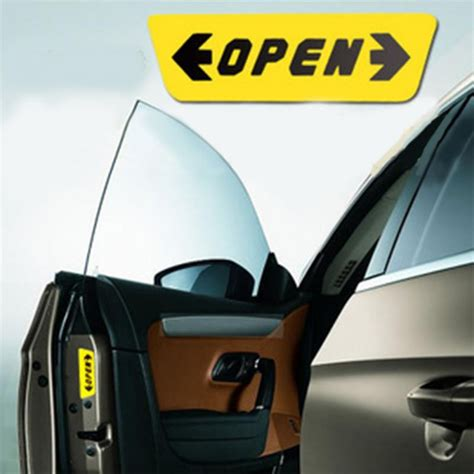 Anti Gores Gagang Pintu Mobil Untuk Audi Toyota Honda Volkswagen stiker reflective pintu mobil open warning door yellow