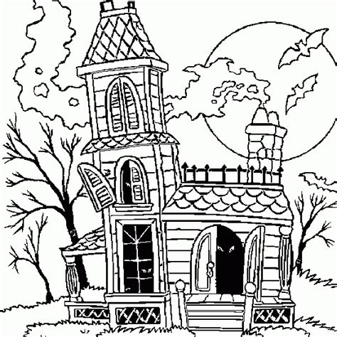 halloween coloring coloring halloween haunted house