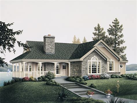 cottage style porch for ranch homes summerview atrium cottage home plan 007d 0068 house plans and more