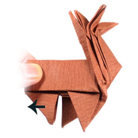 Reindeer Origami - how to make an origami reindeer page 35