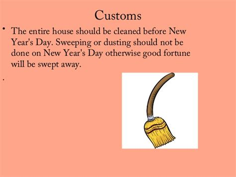 new year traditions what not to do new year customs and traditions ppt