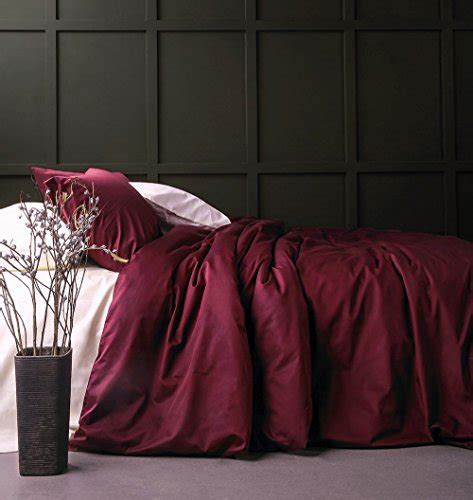 solid color egyptian cotton duvet cover luxury bedding set
