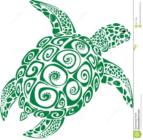 Blue Sea Tribal tribal clipart sea turtle pencil and in color tribal