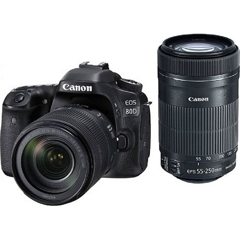 Canon 80d Kit 18 135mm Is Stm canon eos 80d dslr with 18 135mm is usm and 55 250mm is