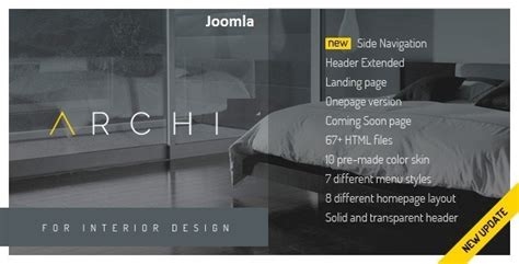 themeforest interior design archi premium interior design joomla template by