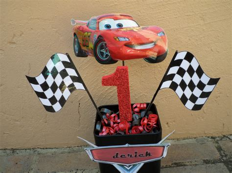Our Disney Cars Center Piece We Placed The Birthday Child Disney Cars Centerpiece Ideas