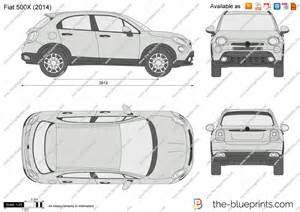 Dimensions Of Fiat 500 The Blueprints Vector Drawing Fiat 500x