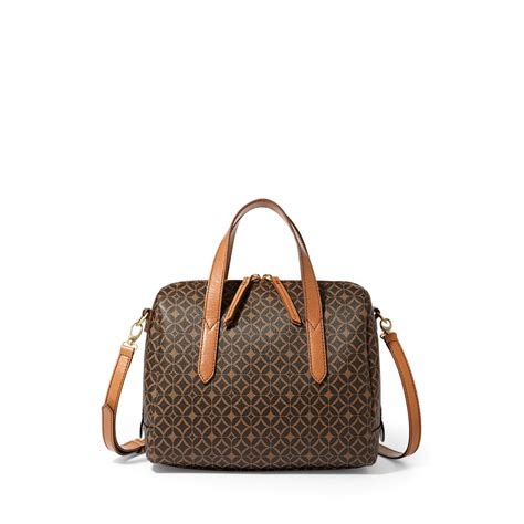 Jual Tas Fossil Sydney Satchel Brown Multi Original Asli 1 new fossil womens sydney satchel multi brown zb5490249 ebay