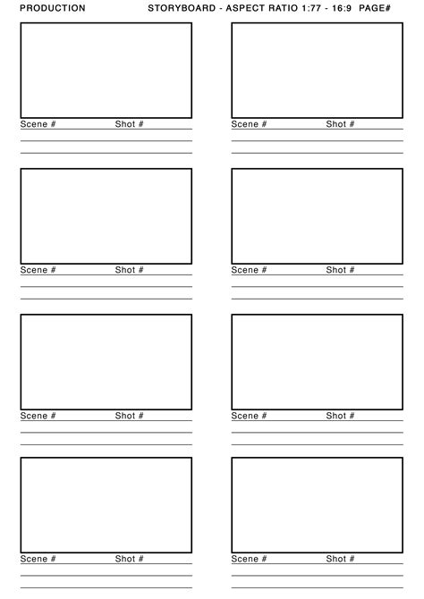 storyboards templates story board template lisamaurodesign