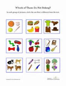 picture categorization worksheet education com