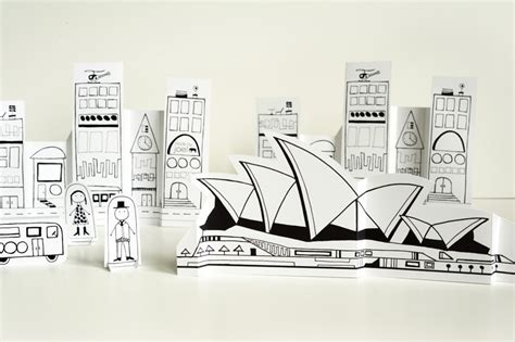 made by joel 187 paper city sydney opera house and luna park