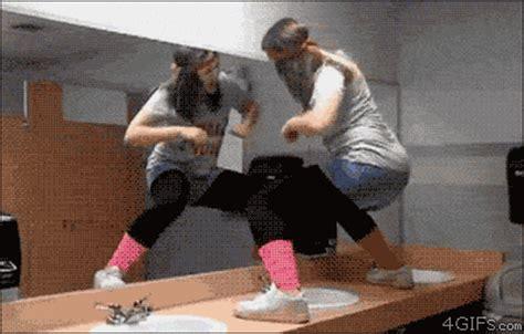 bathroom twerk girl dancing gif find share on giphy