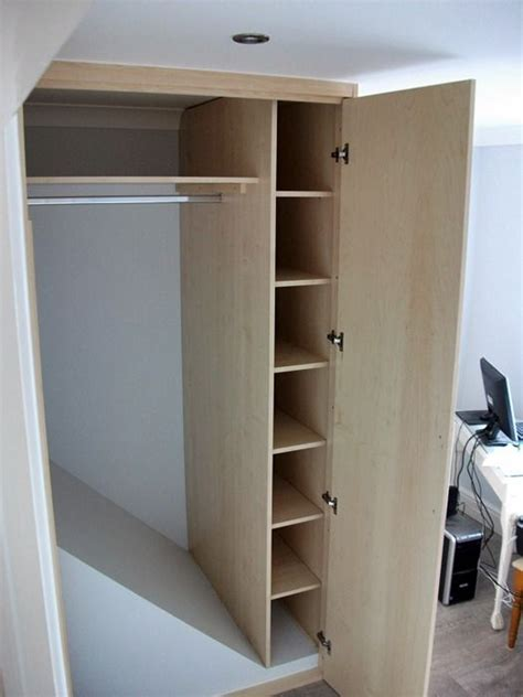above wardrobe storage boxes wardrobe built stair well bulkhead home ideas