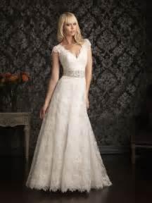 vintage lace wedding dresses cap sleeves   iPunya