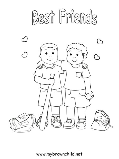Best Friend Coloring Pages To Download And Print For Free Friendship Colouring Pages