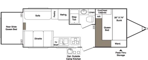 outback floor plans 2007 keystone outback 23rs floorplan