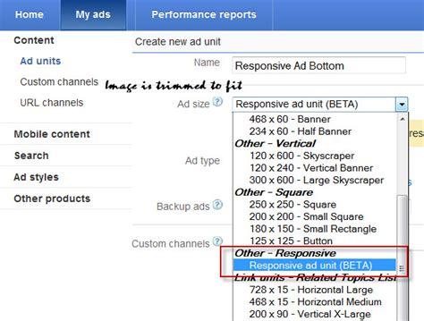 adsense responsive ads how to create responsive google adsense ad unit