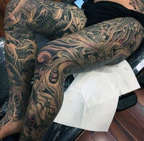 mens tattoo leg designs 50 japanese tattoos for masculine motifs