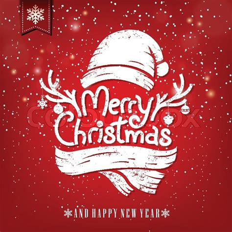 christmas greeting card  chalk stock vector colourbox