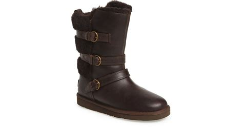ugg becket water resistant mid calf boots in brown