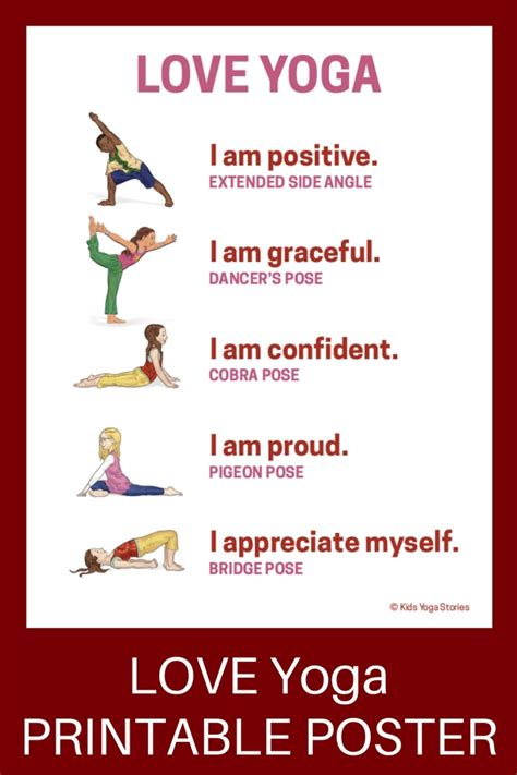 printable yoga poster 18 heart opening valentine s day yoga poses for kids